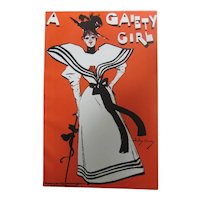 Serigraph Poster Print - A Gaiety Girl - Dudley Hardy