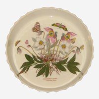 Portmeirion Botanic Garden Quiche or Flan Dish - Christmas Rose- Helleborus Niger