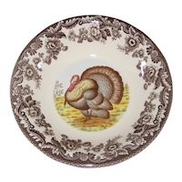 "Spode Woodland Turkey 8 1/8"" Cereal or Small Serving Bowl"