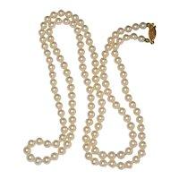 "Classic 36"" Strand of Opera Length Costume Pearls"