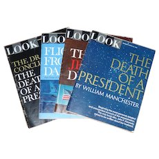 Four Issues Look Magazine 1967 Four Part Series - Death of John F. Kennedy JFK