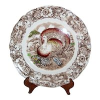 Alfred Meakin Staffordshire Transferware Thanksgiving Turkey Plates