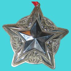 Towle 2008 Sterling Silver Christmas Star Ornament - 12th in the Series