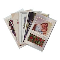 Set of Five Vintage Religious Themed Christmas Postcards 1910 - 1928