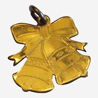 Wedding Bells or Christmas Bells 1/20 Gold Filled Charm