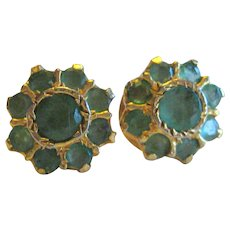 Gold-Plated Emerald Earrings from India - Posts