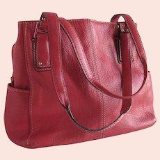 Fossil Blackburn Deep Pink Pebbled Leather Purse