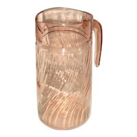 Arococ France Rosaline Pink Swirl Glass Pitcher