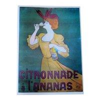 Serigraph Poster Print - Citronade a L'ananas - Leonetto Capiello