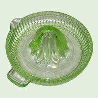 Federal Glass - Green Depression Glass Reamer or Juicer