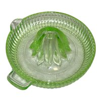 Federal Glass - Green Depression Glass Reamer or Juicer