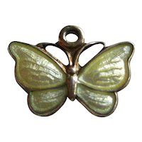 Volmer Bahner Petite Vermeil Sterling Yellow Butterfly Charm