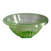 "Federal Glass  8 1/2"" Green Mixing Bowl"