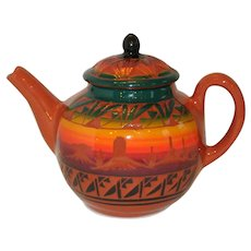 Hand Made Native American Red Earth Mesa Verde Teapot - Signed
