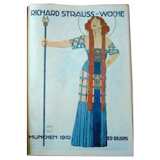 Serigraph Poster Print - Hohlwern - Pos ter for Strauss Week 1910