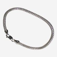 """Italian Fine Mesh Sterling Rope Bracelet - 8"""""""