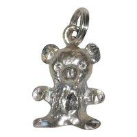 Petite Sterling Silver Teddy Bear Charm