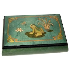 Inlaid Reuge Music Box - Frog - Some Day My Prince Will Come