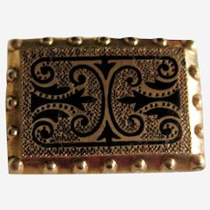 Doll Sized Gold Filled Victorian Taille d'Epargne Pin