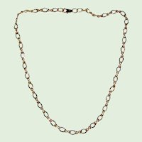 """Gold-Tone Figure Eight Chain Necklace - 17"""""""