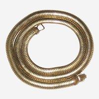 """1940's Gold-Tone Wide Herringbone Snake Chain - 15"""""""