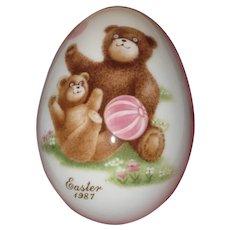Noritake 1987 Bone China Easter Egg - Teddy Bears with Ball