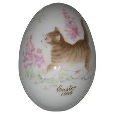 Noritake 1985 Hand Painted Bone China Porcelain Easter Egg - Kitten