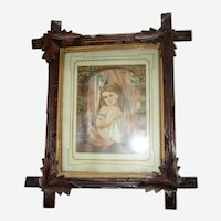 Victorian Walnut Frame with Original Wood Backing
