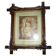 Victorian Walnut Frame with Original Wood Backing