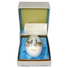 Noritake 1975 Bone China Easter Egg - Ducks and Ducklings - Original Box