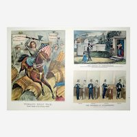 Currier and Ives Print - Women's War for Temperance