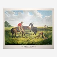 Currier and Ives Print - The Last War Whoop