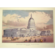 Currier and Ives Print - The US Capitol Building
