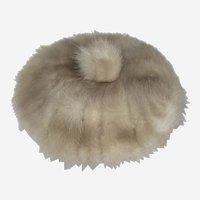 Vintage Betmar Gray Brown Mink Tam or Beret Hat - Union Label