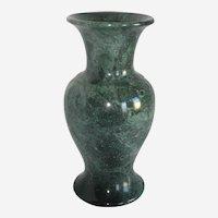 Large Green Serpentine Marble Stone Vase