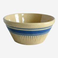 Early Hull Yellow Ware Pottery Bowl