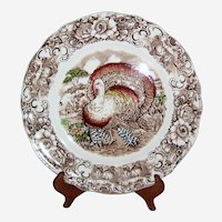 Alfred Meakin Staffordshire Transferware Thanksgiving Turkey Plate - 8 Available