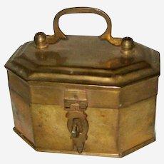 Vintage Brass Cache Box with Latch