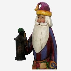 Retired Heartwood Creek Tall Santa Figurine - Jim Shore