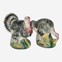 1950's Japan Ceramic Turkey Salt and Pepper Shakers