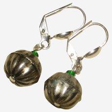 Silver-Tone Pumpkin Earrings