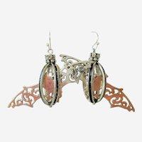 Caged Bat Earrings