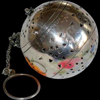 "Watrous Sterling Silver Tea Ball Infuser - Monogram ""L"""