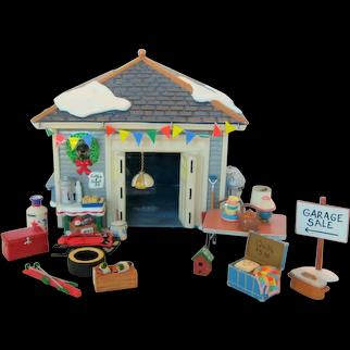 "Dept 56 Original Snow Village 1998 ""Another Man's Treasure"" Garage Sale #54945"