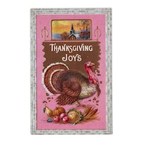 Thanksgiving Postcard with Turkey - circa 1915