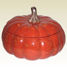 Large Autumn Harvest Pumpkin Soup Tureen - Barbara Eigen for Williams Sonoma