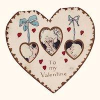 1920's Paper Valentine - When Hearts are Trumps