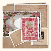 Victorian Paper Valentine Pieces for Repair or Crafts