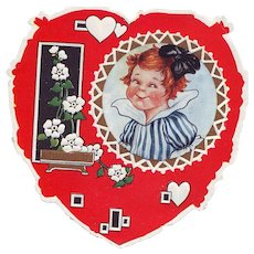 Heart Shaped Whitney Valentine - Red Haired Girl with Big Bow