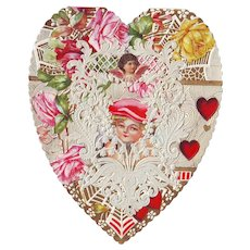 Lacy Heart Shaped Valentine circa 1910